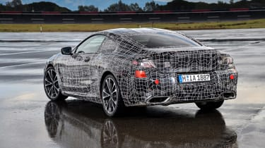 BMW 8 series official spy shots static