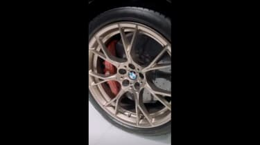 BMW M5 CS teaser wheels