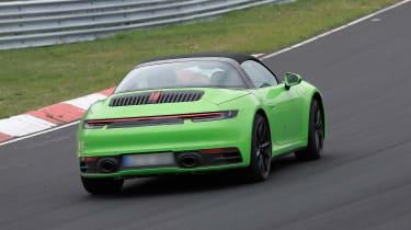 Porsche 911 Targa spy - rear