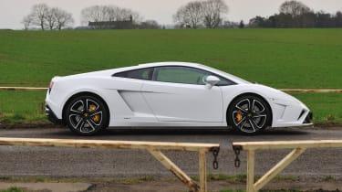 2013 Lamborghini Gallardo LP560-4 white side profile