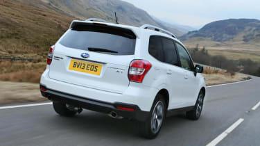 Subaru Forester XT petrol white rear