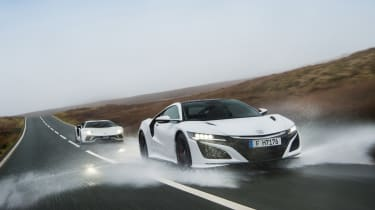Wettest shoot in history - front quarter NSX