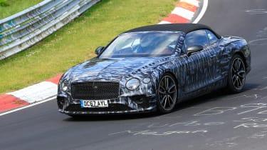Bentley Continental GT C spy 2018 - front quarter
