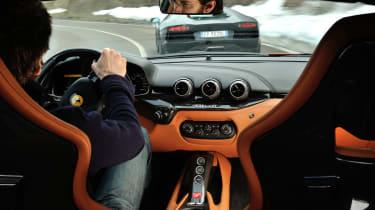 Ferrari F12 interior driving shot