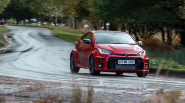 2020 Toyota GR Yaris Red - cornering