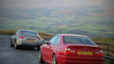 Nissan 350Z and BMW M3 (E46)