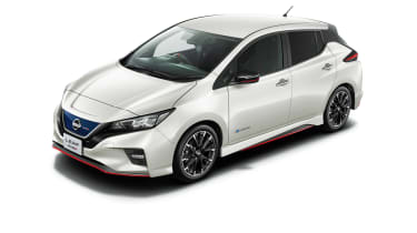 Nissan Leaf Nismo white with body-colour roof