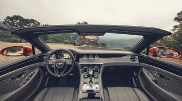 Bentley Continental GT Convertible drive - dash