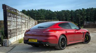 Porsche Panamera S E-Hybrid red rear
