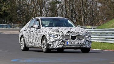 Next-generation Mercedes C-class spied