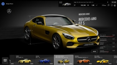 GT Sport - first impressions car selection