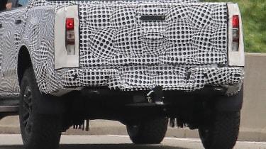 Ford Ranger Raptor spy - rear close