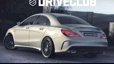 Mercedes CLA45 AMG saloon first picture silver Driveclub PS4