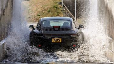 Porsche 911 final testing - water