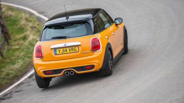 2014 Mini Cooper S rear cornering