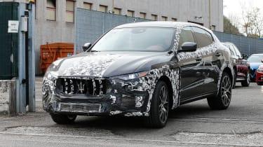 Maserati Levante spied - front