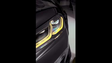 BMW M5 CS teaser light