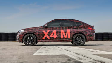 BMW X3 M and X4 M prototypes - profile