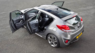 2012 Hyundai Veloster Turbo three doors open