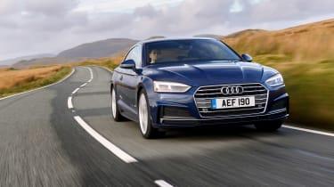 Audi A5 coupe blue - front dynamic