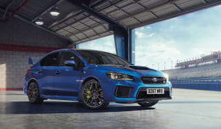 Subaru celebrates final WRX STI - front quarter