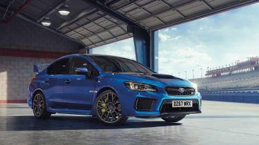 Subaru celebrates final WRX STI - front quarter