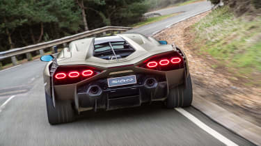 Lamborghini Sian - tracking rear