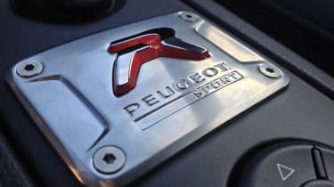Peugeot RCZ R interior badge plaque