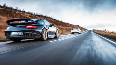 Porsche 911 GT2 RS & Mercedes-Benz SLS AMG Black Series - dynamic