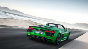 Audi R8 Plus Spyder - rear driving