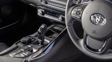 BMW M2 Competition vs Toyota GR Supra - cabin Supra
