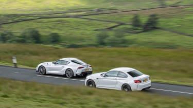 BMW M2 Competition vs Toyota GR Supra - pan 1