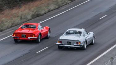 Ferrari Dinos go head-to-head