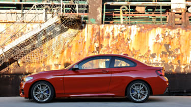 BMW 2-series coupe red side profile