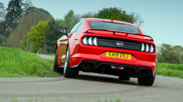 Ford Mustang rear red