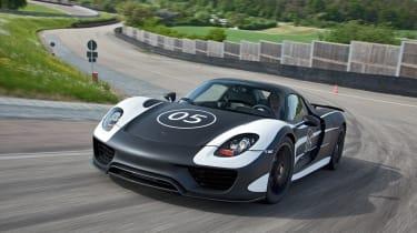 Porsche 918 Spyder prototype testing