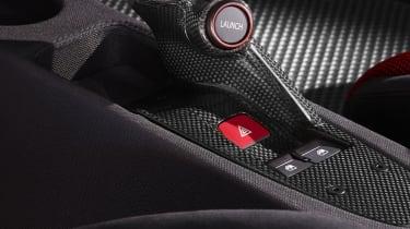 Ferrari 458 Speciale carbonfibre gear selector buttons