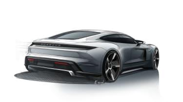 Porsche Taycan sketches