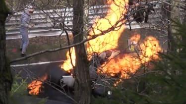 Niki Lauda F1 crash video