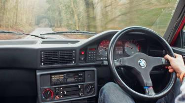 BMW M5 E28 interior driving