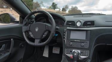2013 Maserati GranCabrio MC interior dashboard steering wheel