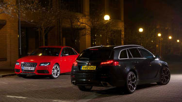 Audi S4 and Vauxhall Insignia VXR