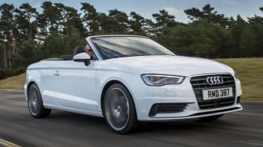 Audi A3 Cabriolet white front