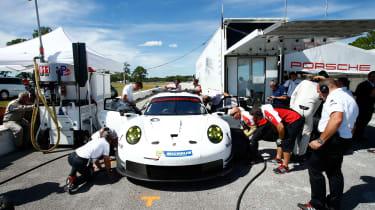 Porsche 911 RSR testing
