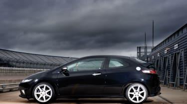 Honda Civic Type-R black side profile