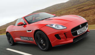 Jaguar F-type V8 S Roadster red front view