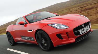 Jaguar F-type V8 S Roadster red front view