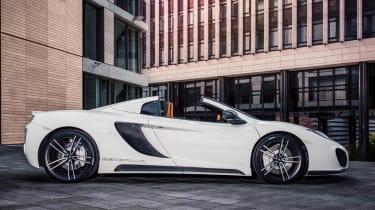 Gemballa GT Spider: tuned McLaren 12C white side profile