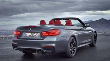 BMW M4 Convertible grey rear
