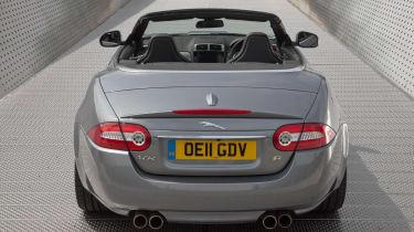 2013 Jaguar XKR Convertible rear steel grey